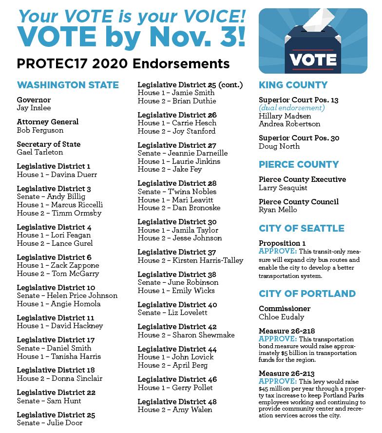 PROTEC17 endorsements