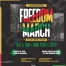 Poster for Juneteenth Freedom March 2021