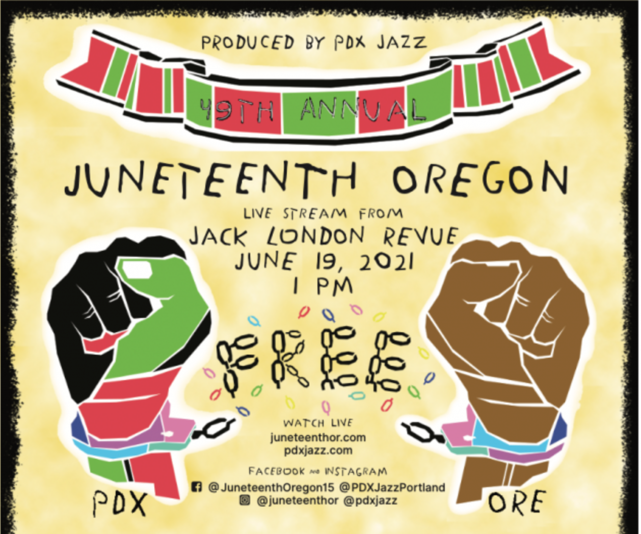Poster for Juneteenth PDX 2021