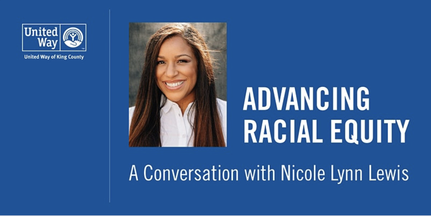 Image of Nicole Lynn Lewis for United Way talk on Advancing Racial Equity